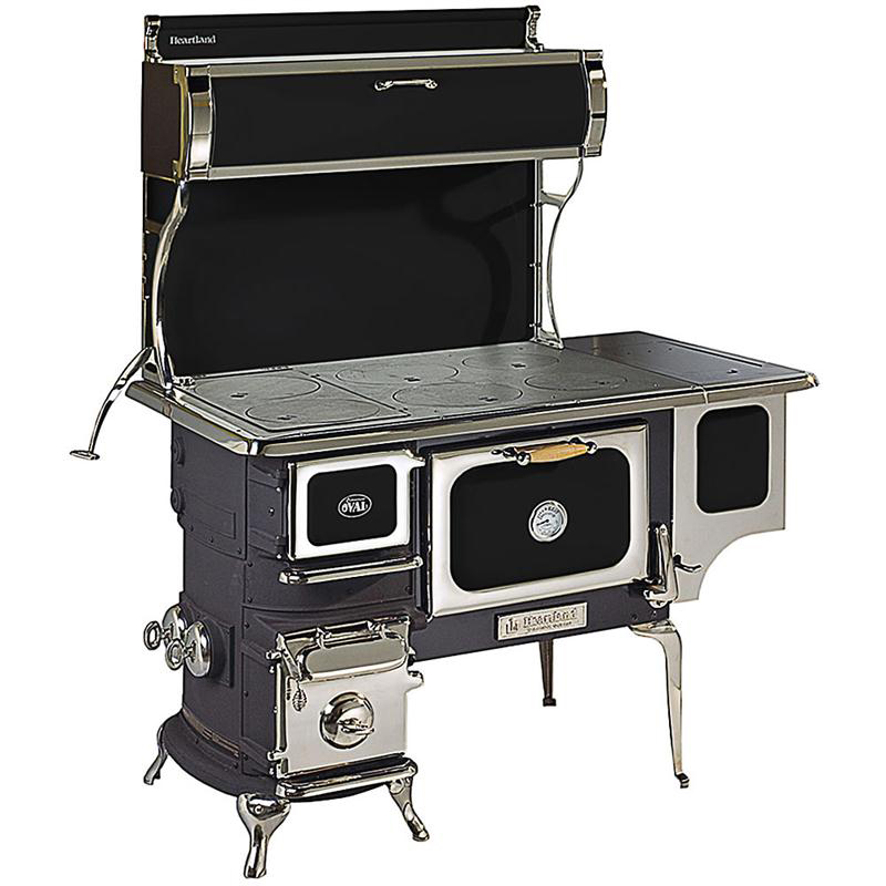 heartland-stove Heartland Oval Wood Cookstove $7,400 - How To Cook On A Woodstove: On Top And Inside - Modern