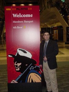 Zac at an NRA convention before I met him.