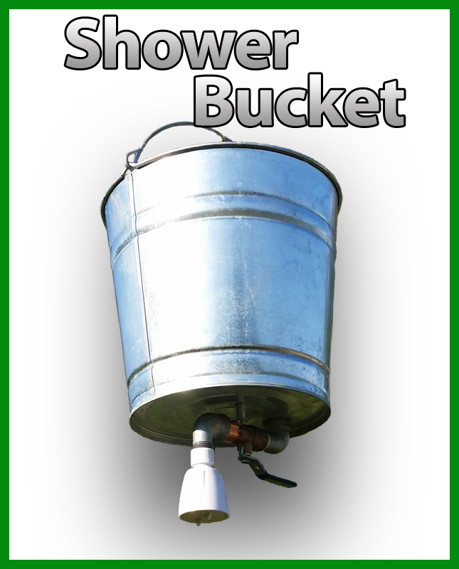 homestead shower bucket american made an american