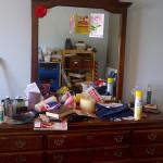 dresser-clutter