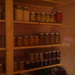 The last couple of weeks have been busy.  My pantry is beginning to grow.