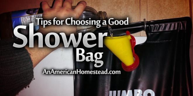 Tips for Choosing a Good Shower Bag