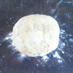 After kneading.