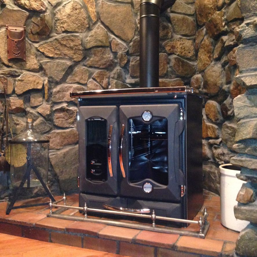 Mamy black cook stove compressed modern homesteading off