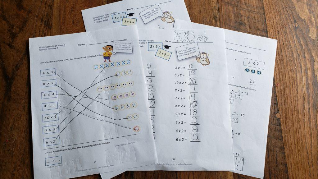 homeschool multiplication tables