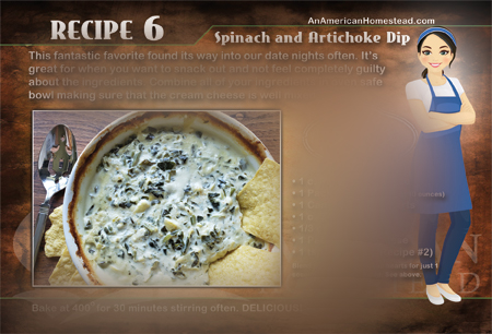 Spinach and Artichoke Dip Recipe Card